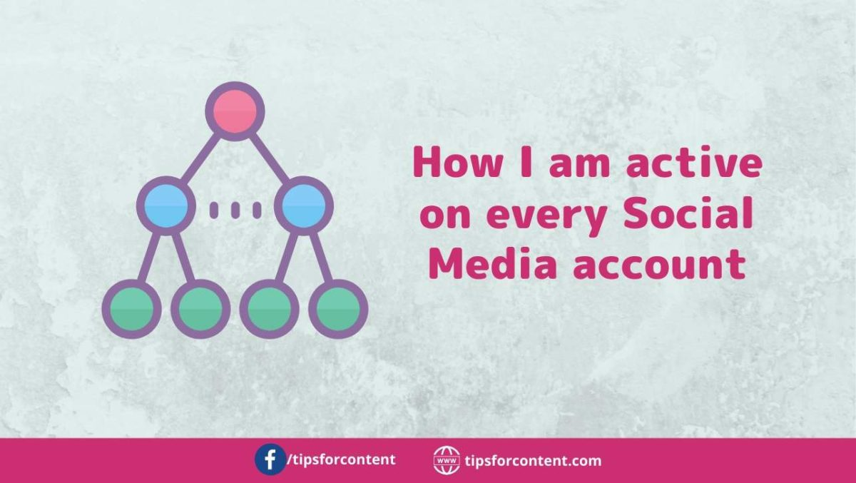 Be active on every Social Media account