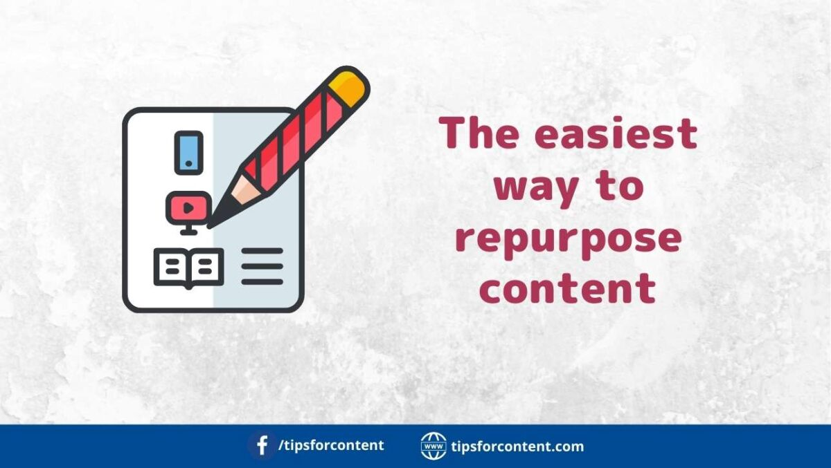 The easiest way to repurpose content